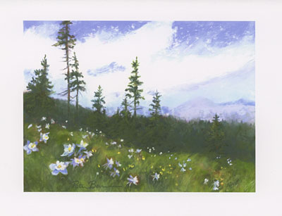 View from Mt. Whetstone watercolor note cards